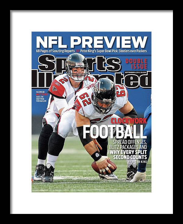 Magazine Cover Framed Print featuring the photograph Atlanta Falcons V New York Giants Sports Illustrated Cover by Sports Illustrated