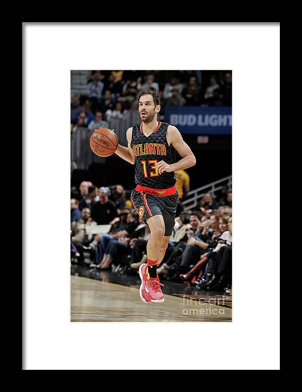 Nba Pro Basketball Framed Print featuring the photograph Atlanta Hawks V Cleveland Cavaliers by David Liam Kyle
