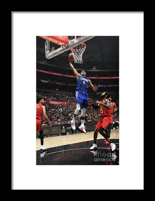 Moe Harkless Framed Print featuring the photograph Atlanta Hawks V La Clippers by Andrew D. Bernstein