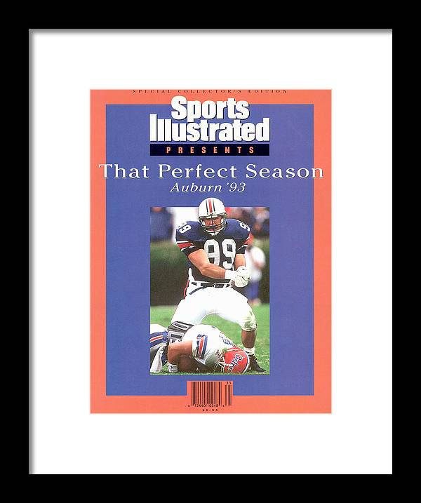 Auburn University Framed Print featuring the photograph Auburn University Ace Atkins, 1993 Ncaa Perfect Season Sports Illustrated Cover by Sports Illustrated