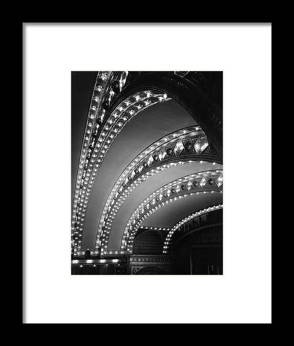 Ceiling Framed Print featuring the photograph Auditorium Theater In Chicago by Chicago History Museum