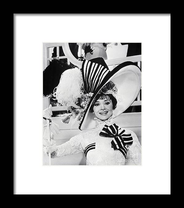 Belgium Framed Print featuring the photograph Audrey Hepburn As Eliza Doolittle by Bettmann