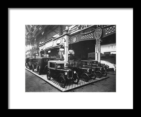 Austin Framed Print featuring the photograph Austin Motor Show by Topical Press Agency