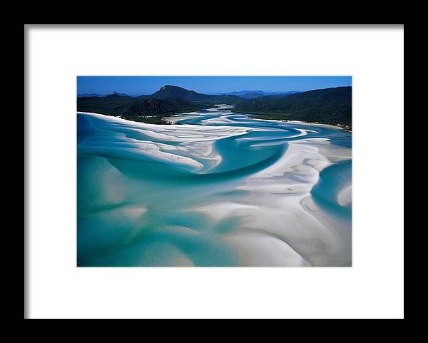 Scenics Framed Print featuring the photograph Australia,whitsunday Island, Whitehaven by Martin Barraud