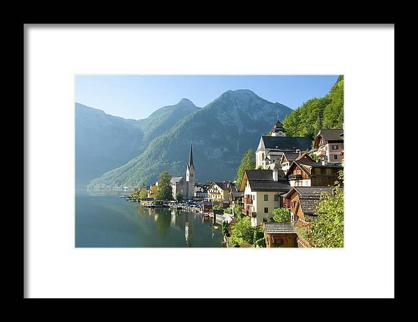 Scenics Framed Print featuring the photograph Austria, Salzburger Land, Hallstatt by Manchan
