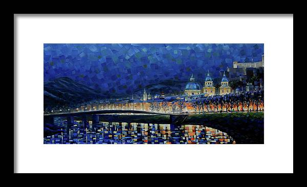 Salzburg Framed Print featuring the painting Austrian Nights by Rob Buntin