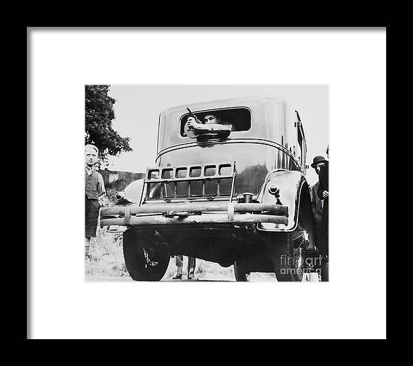 Child Framed Print featuring the photograph Automobile Constructed For Al Capone by Bettmann