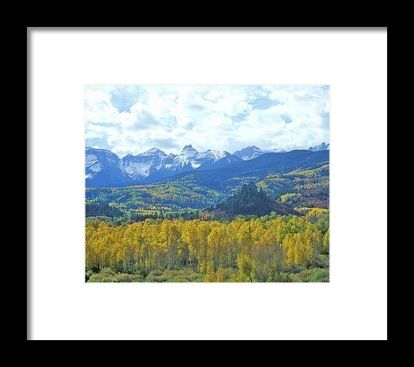 Scenics Framed Print featuring the photograph Autumn Colors In The Sneffels Mountain by Visionsofamerica/joe Sohm