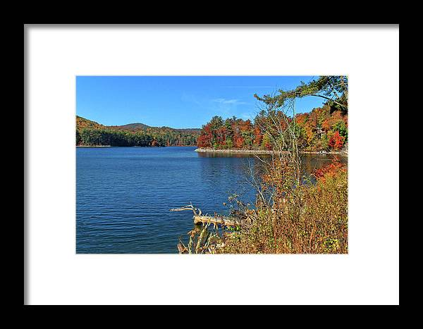 Lake Glenville Framed Print featuring the photograph Autumn In North Carolina by HH Photography of Florida