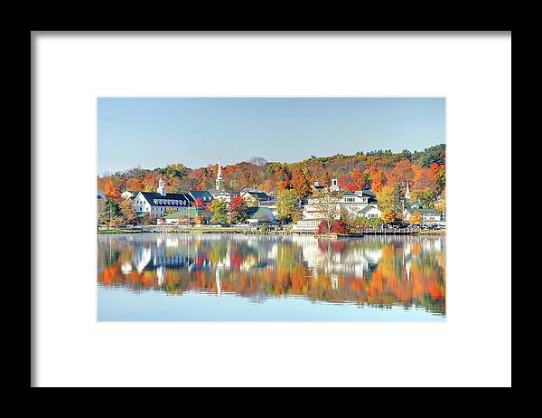 Scenics Framed Print featuring the photograph Autumn On Lake Winnipesaukee by Denistangneyjr