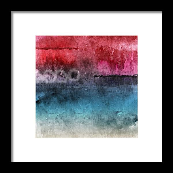 Abstract Framed Print featuring the painting Awakened 4- Abstract Art by Linda Woods by Linda Woods