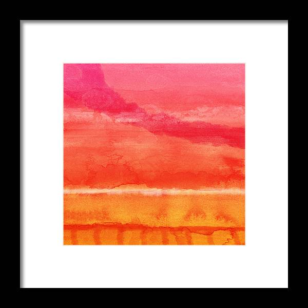 Abstract Framed Print featuring the painting Awakened 5 - Art by Linda Woods by Linda Woods