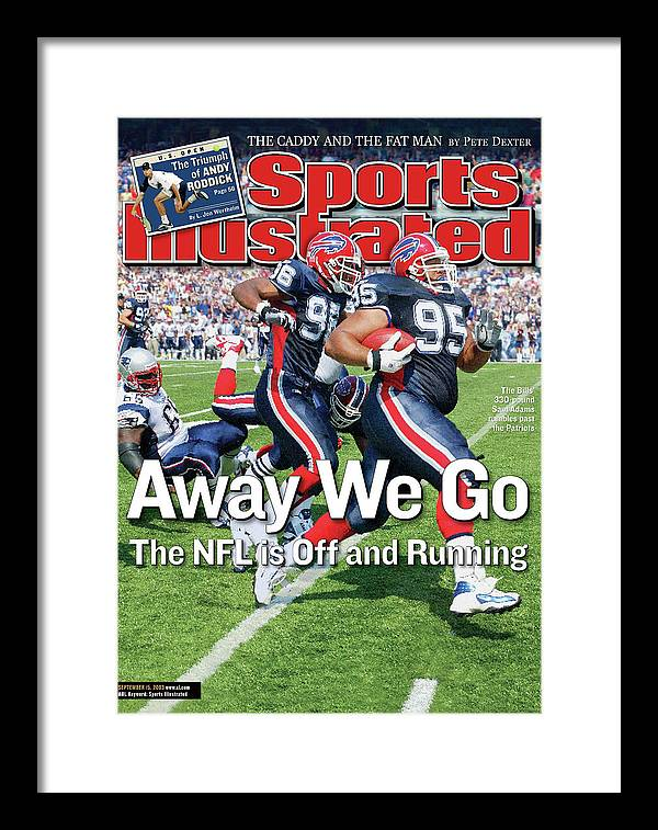 Magazine Cover Framed Print featuring the photograph Away We Go The Nfl Is Off And Running Sports Illustrated Cover by Sports Illustrated
