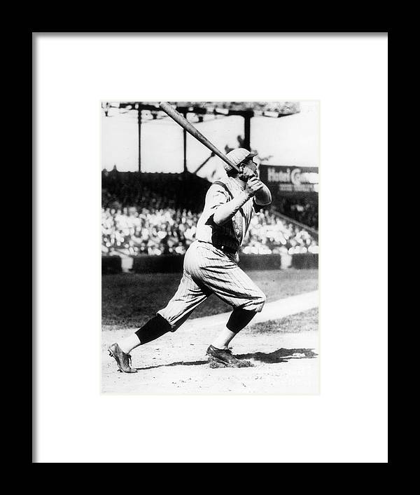 American League Baseball Framed Print featuring the photograph Babe Ruth 1921 by Transcendental Graphics