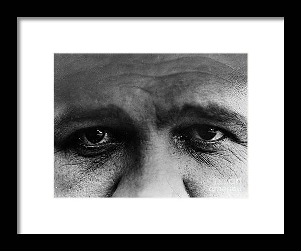 People Framed Print featuring the photograph Babe Ruth Eyes by Transcendental Graphics