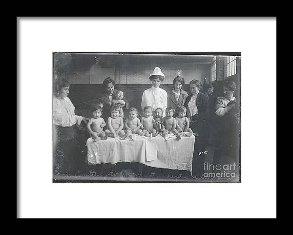 People Framed Print featuring the photograph Babies Entering Contest by Bettmann