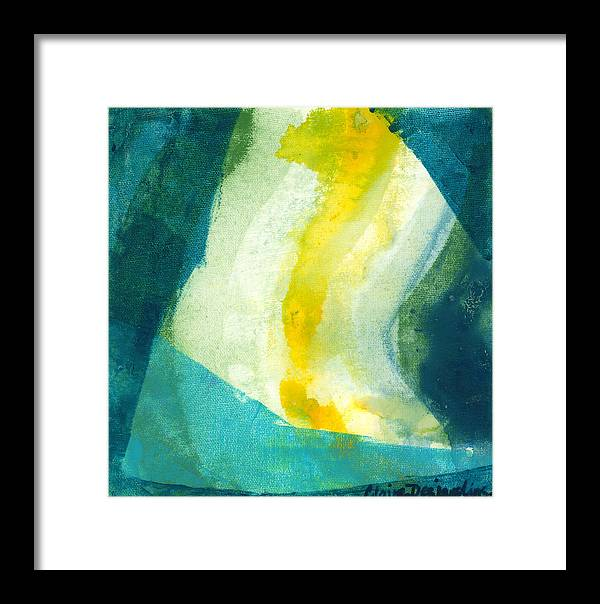 Abstract Framed Print featuring the painting Back by Claire Desjardins
