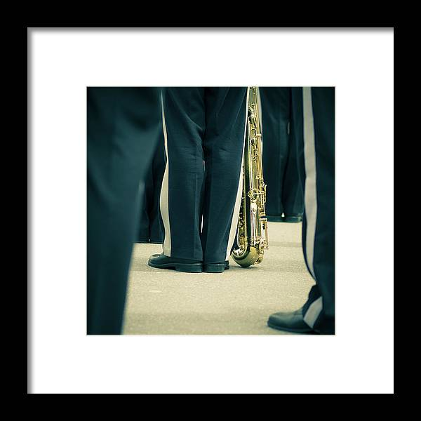 Versailles Framed Print featuring the photograph Backlegs Of Military Musician With by Boma.dfoto@gmail.com