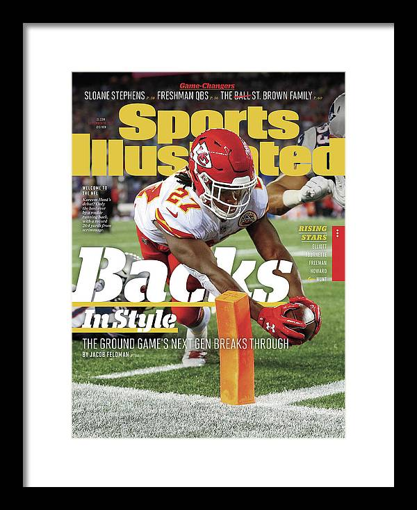 Magazine Cover Framed Print featuring the photograph Backs In Style The Ground Games Next Gen Breaks Through Sports Illustrated Cover by Sports Illustrated