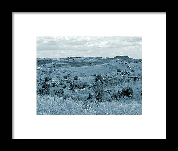 North Dakota Framed Print featuring the photograph Badlands Cloud Shadows by Cris Fulton