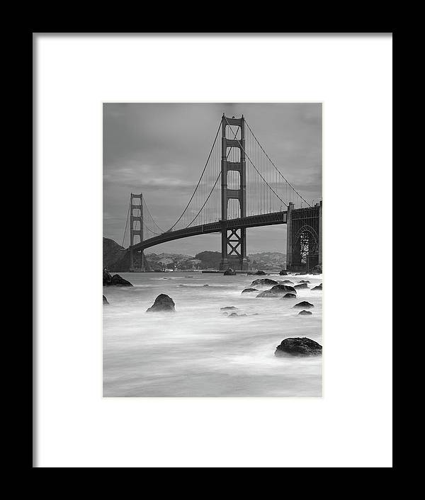 Tranquility Framed Print featuring the photograph Baker Beach Impressions by Sebastian Schlueter (sibbiblue)