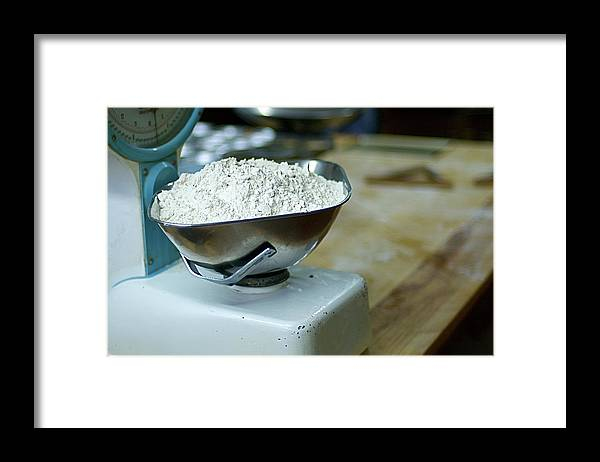 Bakery Framed Print featuring the photograph Bakery Scales by Charlie Ingham