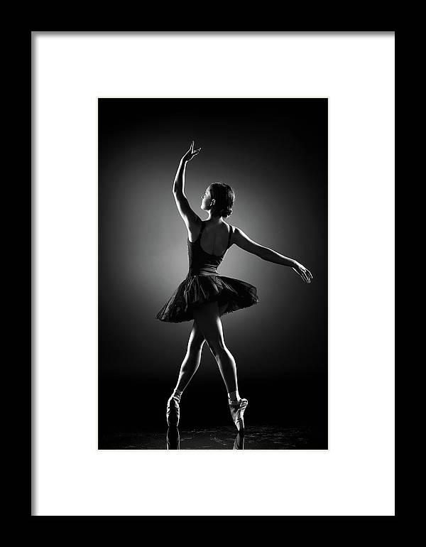 Ballerina Framed Print featuring the photograph Ballerina Dancing by Johan Swanepoel
