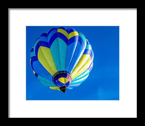 Blue Balloon Framed Print featuring the photograph Balloon Blue by Mark Miller