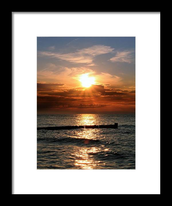 Tranquility Framed Print featuring the photograph Baltic Sunset by © Jan Zwilling