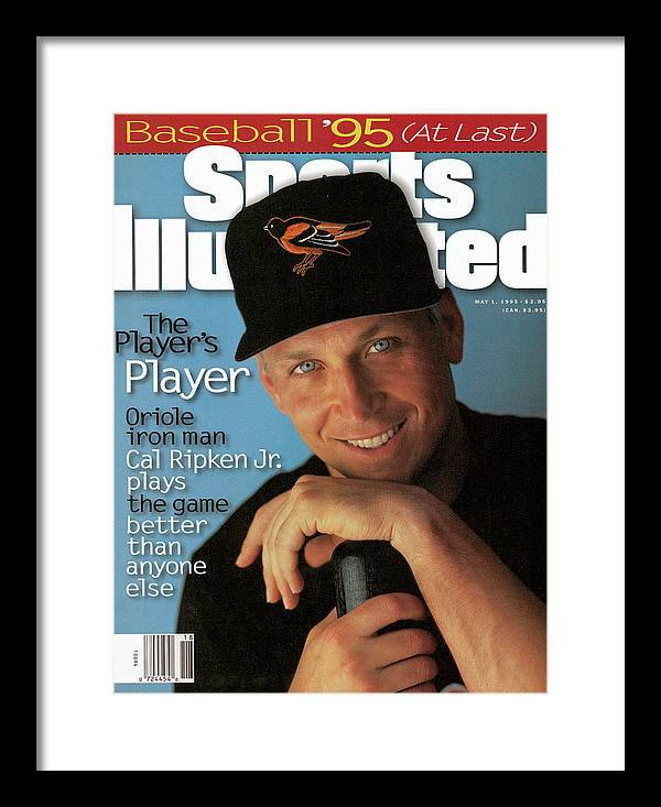Magazine Cover Framed Print featuring the photograph Baltimore Orioles Cal Ripken Jr, 1995 Mlb Baseball Preview Sports Illustrated Cover by Sports Illustrated