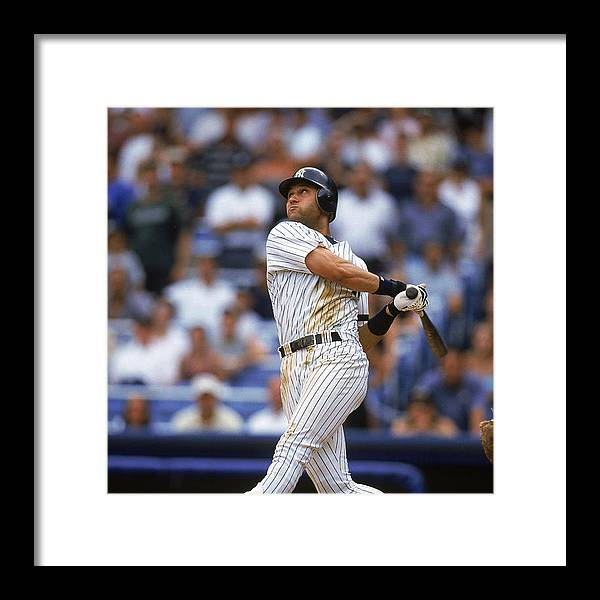 People Framed Print featuring the photograph Baltimore Orioles V New York Yankees by Jamie Squire