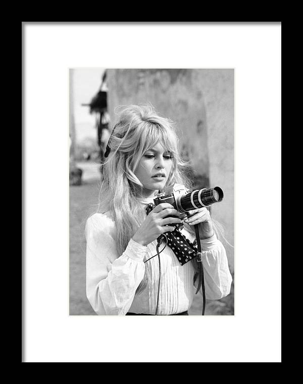 Timeincown Framed Print featuring the photograph Bardot During Viva Maria Shoot by Ralph Crane