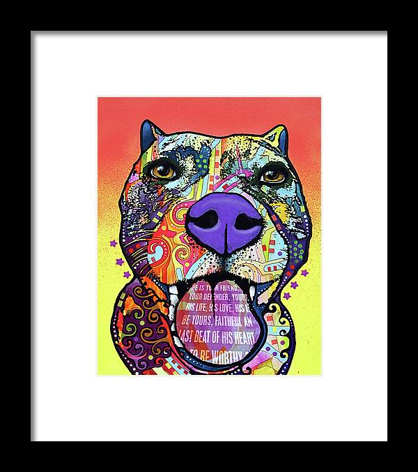 Bark Don?t Bite Framed Print featuring the mixed media Bark Don?t Bite by Dean Russo