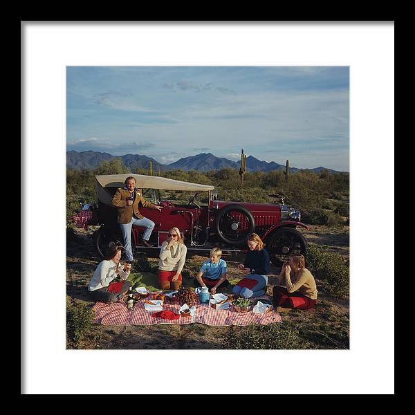 People Framed Print featuring the photograph Barrett Family Picnic by Slim Aarons