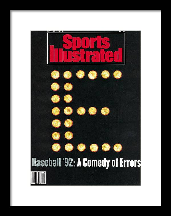 Magazine Cover Framed Print featuring the photograph Baseball 92 A Comedy Of Errors Sports Illustrated Cover by Sports Illustrated
