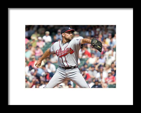 People Framed Print featuring the photograph Baseball - Braves Vs. Indians by Icon Sports Wire