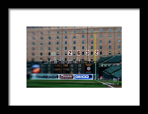 Hanging Framed Print featuring the photograph Baseball - Cal Ripken Hall Of Fame by Icon Sports Wire