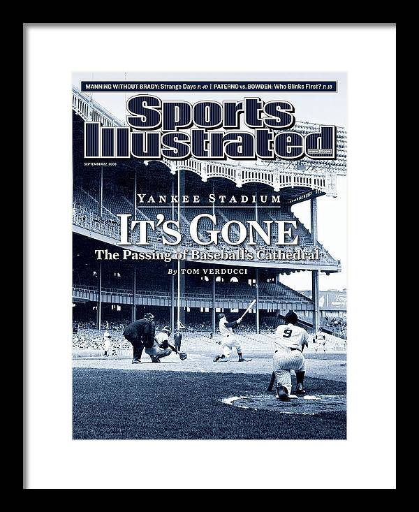 Magazine Cover Framed Print featuring the photograph Baseball New York Yankees Micke... Sports Illustrated Cover by Sports Illustrated