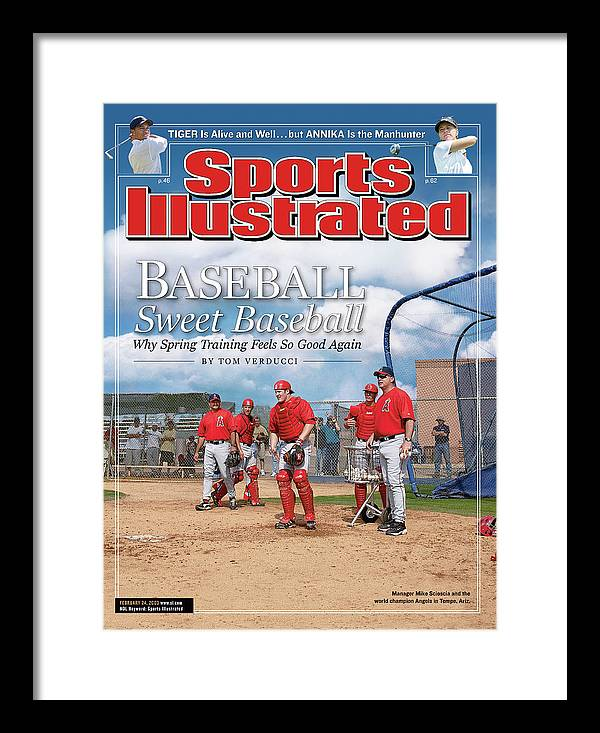Jeff Mathis Framed Print featuring the photograph Baseball Sweet Baseball Why Spring Training Feels So Good Sports Illustrated Cover by Sports Illustrated