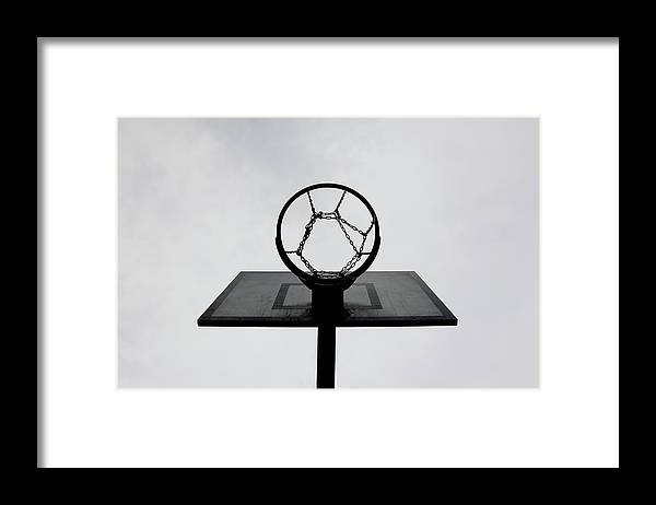 Outdoors Framed Print featuring the photograph Basketball Hoop by Christoph Hetzmannseder