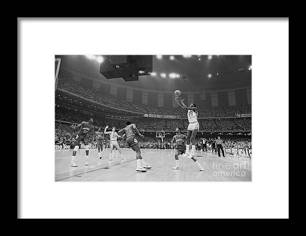 1980-1989 Framed Print featuring the photograph Basketball - Ncaa Tournament - North by Bettmann