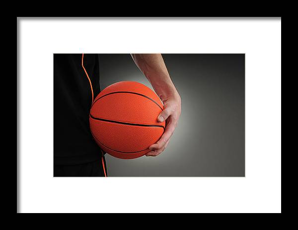 People Framed Print featuring the photograph Basketball Player by Mumininan