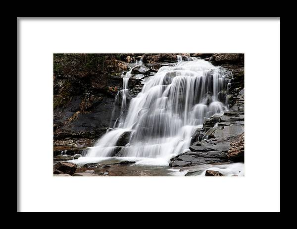 Waterfall Framed Print featuring the photograph Bastion Falls by Tom Romeo