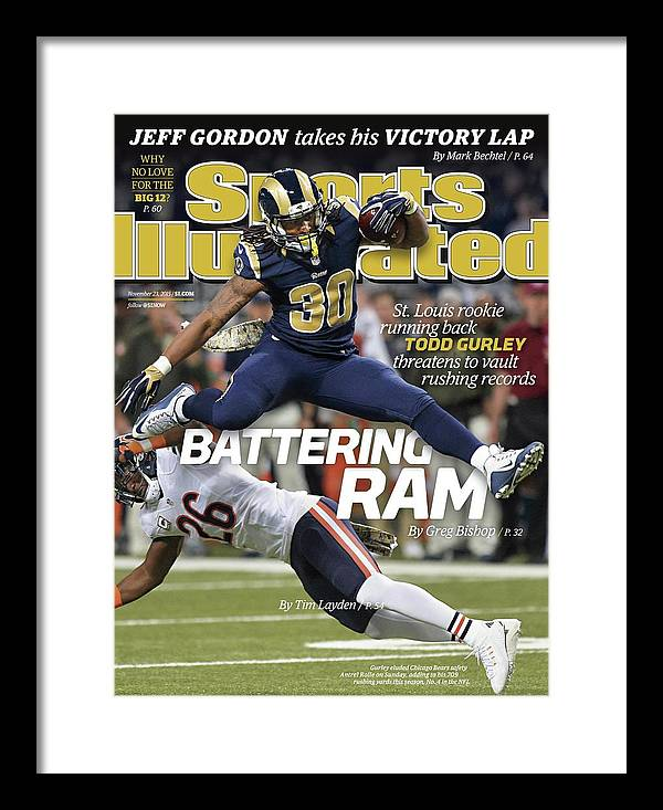 Magazine Cover Framed Print featuring the photograph Battering Ram St. Louis Rookie Running Back Todd Gurley Sports Illustrated Cover by Sports Illustrated