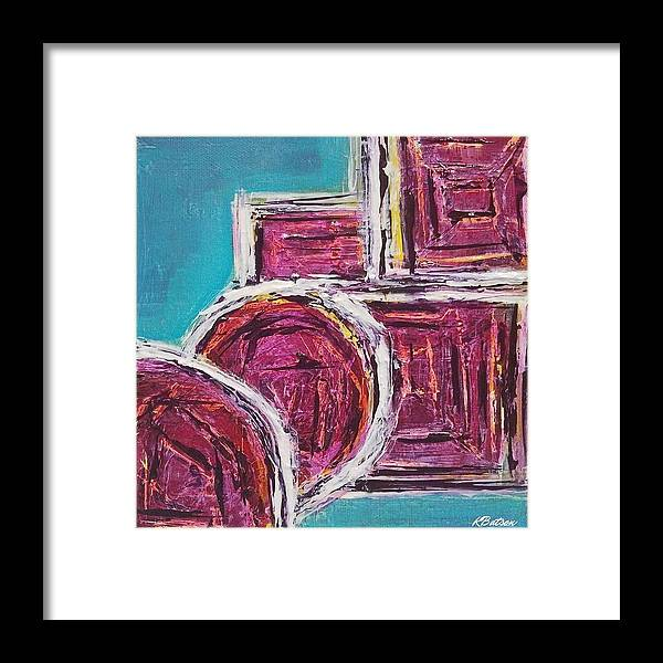 Canvas Print Framed Print featuring the painting Be-lovely by K Batson Art