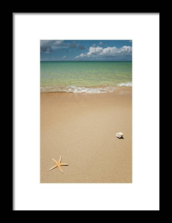 Empty Framed Print featuring the photograph Beach by Ugurhan