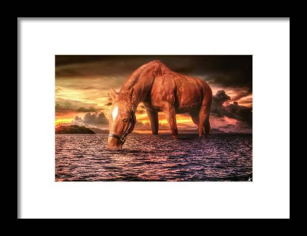 Beamer Framed Print featuring the digital art Beamer by Nicholas Grunas