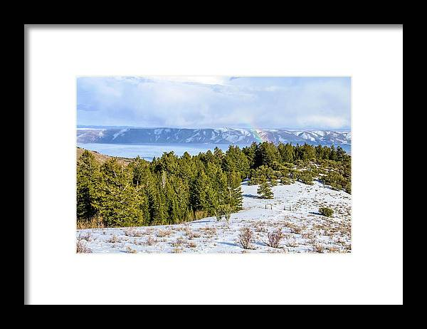 Tranquility Framed Print featuring the photograph Bear Lake Scenic Byway by ©anitaburke