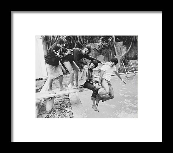 Singer Framed Print featuring the photograph Beatles In La by Express