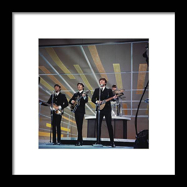 Singer Framed Print featuring the photograph Beatles On Us Tv by Paul Popper/popperfoto